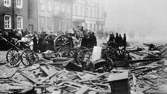 Последствия взрыва бомбы