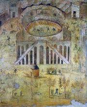 Pompeian mural depicting the Amphitheatre riots