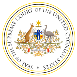 Seal of the Supreme Court of Cygnia