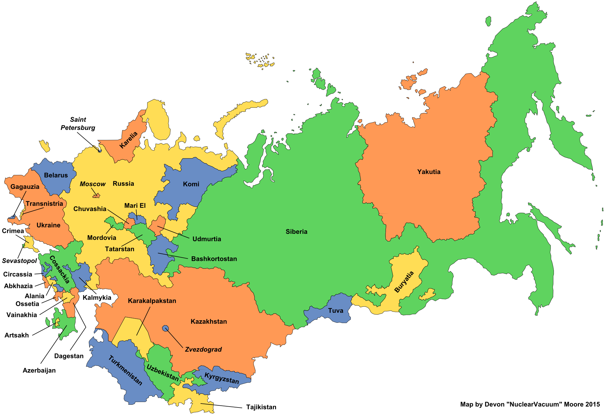 The former power of the Soviet Union