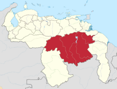 Ubicación del Estado Bolívar (CNS)