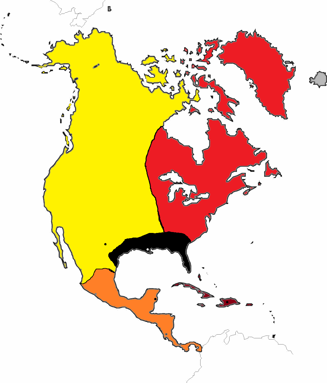 Image - Blank-map-north-america.png | Alternative History | FANDOM ...
