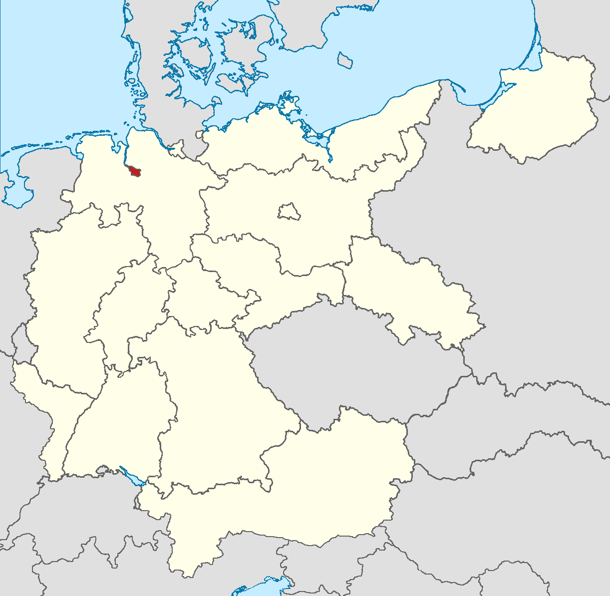Image - Locator map Bremen in Germany (IM).png   Alternative History ...