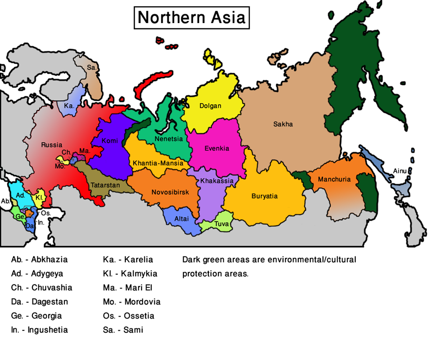 High Quality Map Northern Asia (VegWorld)