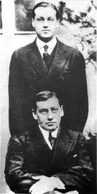 Arturo y Jorge Alessandri (1920)