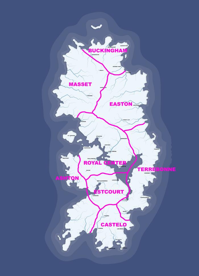 Escadian State Map (Atlantic Ocean Islands)