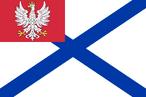 Military ensign of Vistula Flotilla of Congress Poland