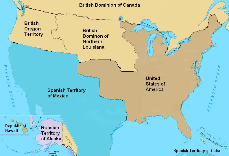 Image - North America in 1827.PNG | Alternative History | FANDOM ...