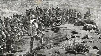 Итальянская артиллерия в Эфиопии