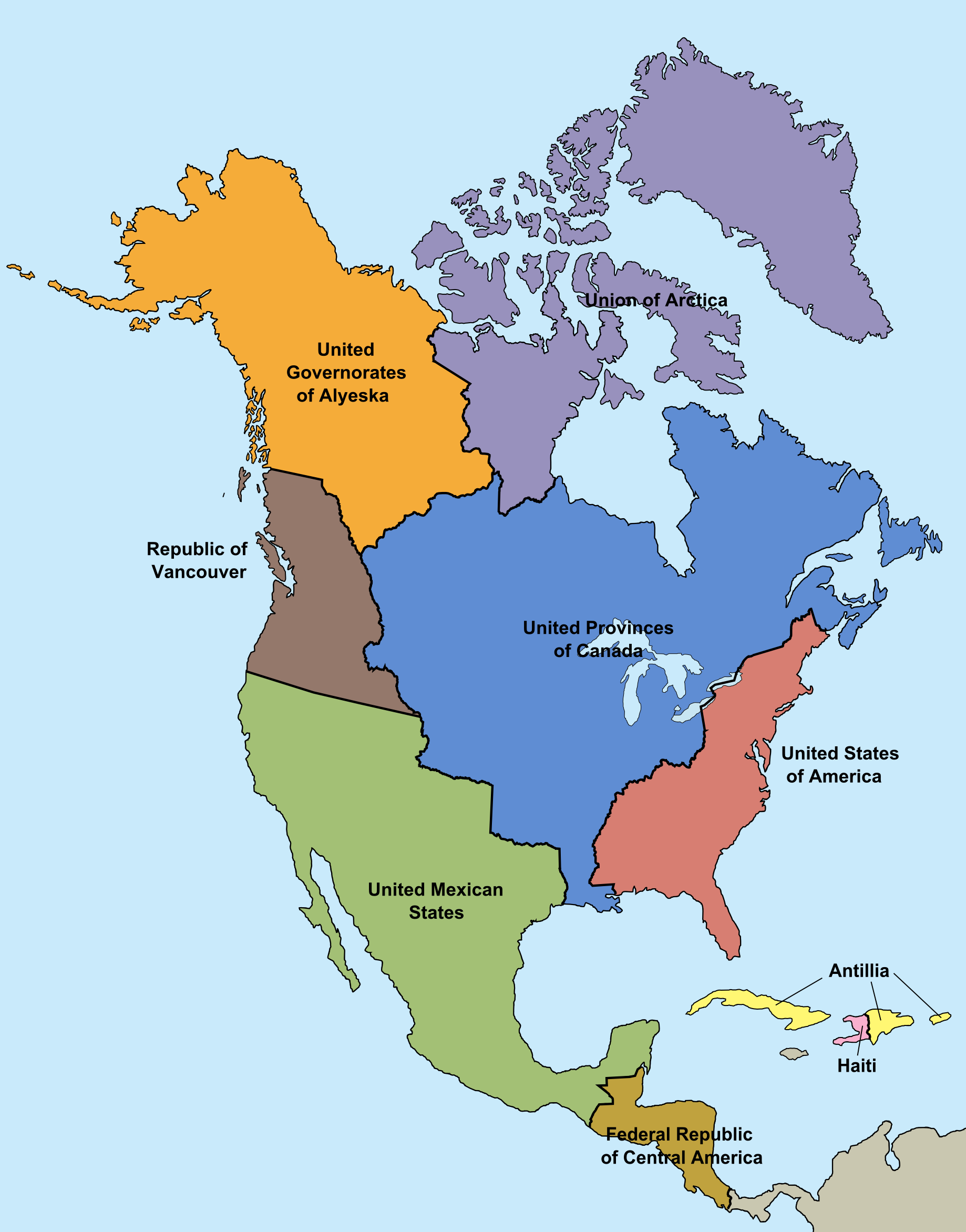 Image - Map of North America (Montcalm Survives).png   Alternative ...