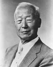 Rhee Syng-Man in 1956