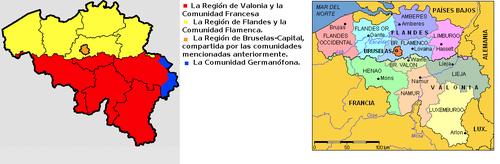 Bélgica admin mapa