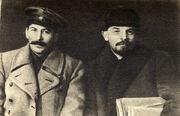 Vladimir Lenin and Joseph Stalin, 1919