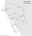 Map of California (13 Fallen Stars)
