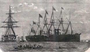 Корабль в Либерию