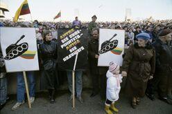 Литва митинги