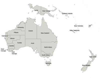 Cygnia states map labelled