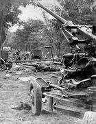 A bombed Red Army column during the Battle of the Bzura.