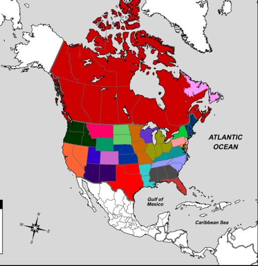 Current Situation Map The Many Nations Of North America