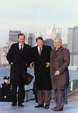 Рейган Буш Горбачёв