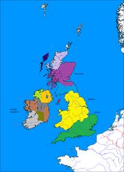British Isles Subdivisions Labled 209BC (Romae Delenda Est Map Game)