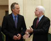President McCain with Tony Blair