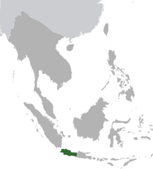 West Java map