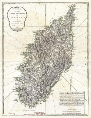 1794 Jeffreys Map of Corsica, France - Geographicus - Corsica-jeffreys-1794