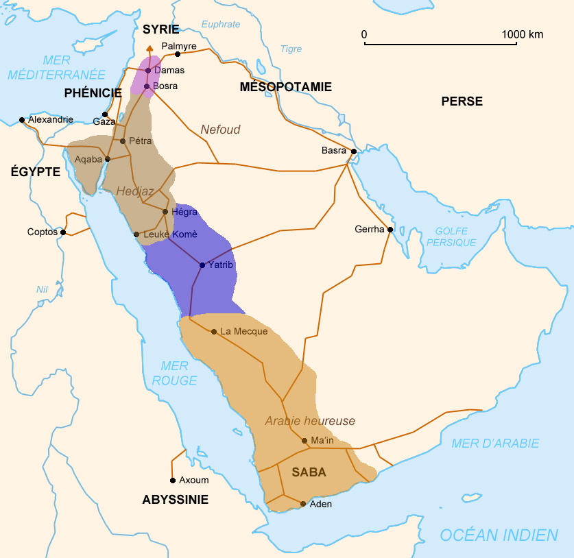 Image Map of Arabia 100 1 BC Guardians