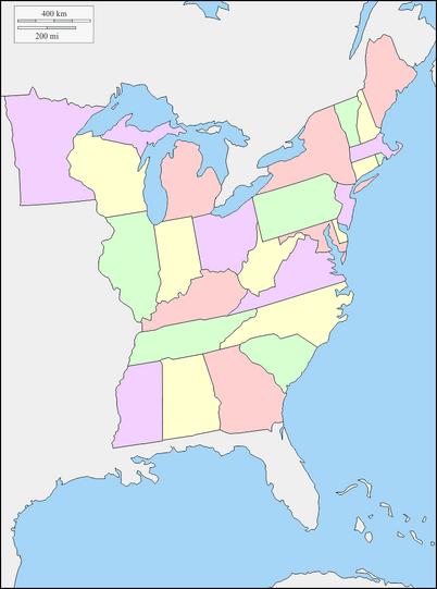 Estados de estados unidos