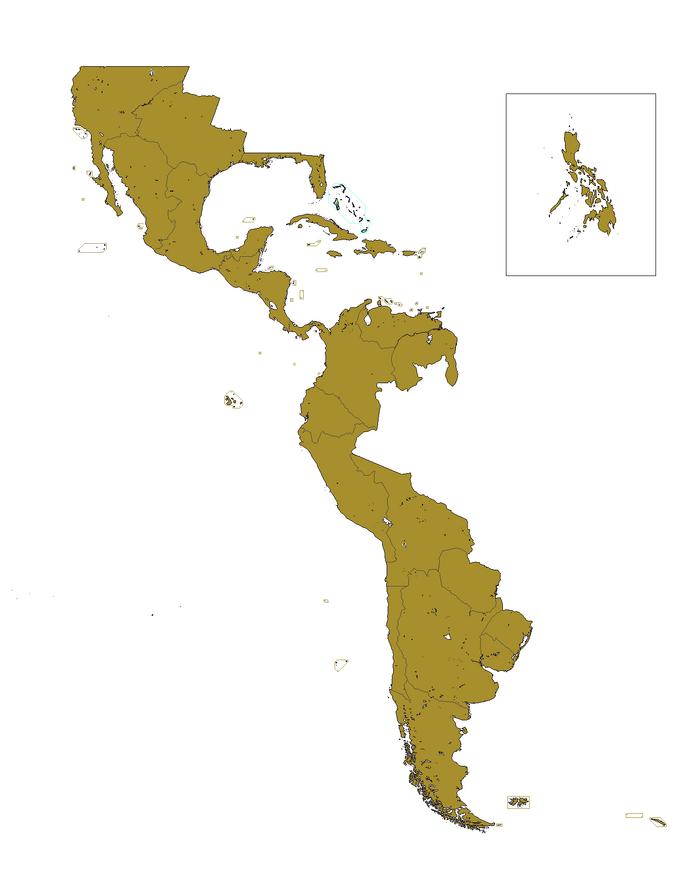 Organización territorial de Hispanoamérica (EUH)