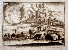 Bombardement Dieppe 1694 gravure de 1701