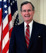 George H. W. Bush, President of the United States, 1989 official portrait