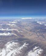 Fly over Pamir Mountains and Karakoram Highway