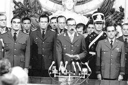 Juramento de Jorge Rafael Videla como presidente de la Junta Militar