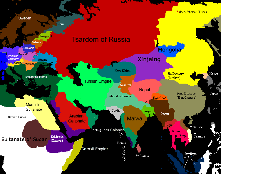 Map Of Europe Russia Middle East%0A Althistory