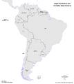 Map of South America (13 Fallen Stars)