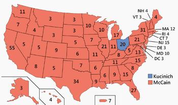US Electoral College 2008 President Hendrix
