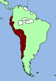 Claimed territory Incan empire 1496