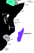 Labelled East Africa