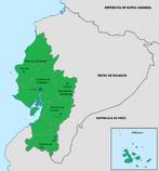 Mapa de la República unida de Guayaquil y Cuenca