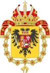 Coat of Arms of Charles VI, Holy Roman Emperor-Or shield variant