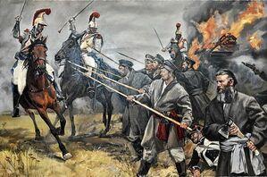 Российское ополчение против войск Наполеона
