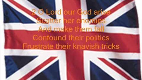 British Anthem, God Save the Queen (with lyrics)