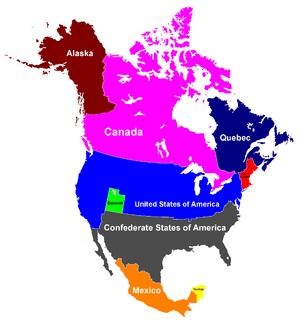 Map of North America (Disunited)