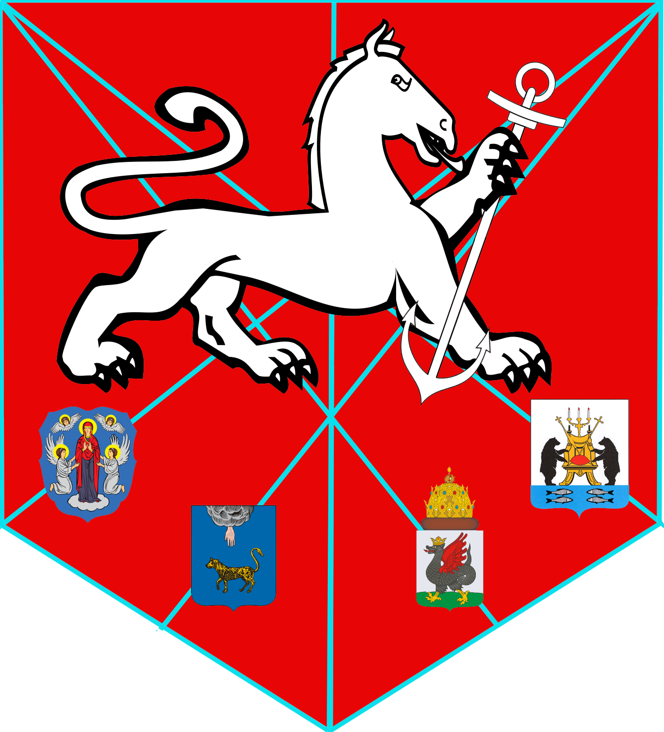 Coat of arms of Novgorod: description, photo, meaning 43