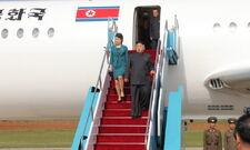 Ким Чен Ын в самолете