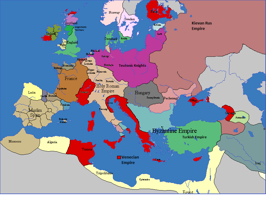 Alternative Map Of Europe.Venetian Empire Alternative History Fandom Powered By Wikia