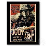 The zombie defense force yippie ki yay postcard-raf47f30a9a1d4a25a218b2f5350679e7 vgbaq 8byvr 512