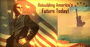 American Spring Rebuilding America poster - combining Fallout 3 poster with WWII poster
